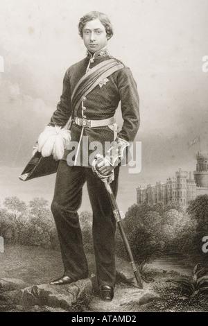 Albert Edward 1841 1910 Prince of Wales Duke of Saxony Prince of Saxe Coburg Gotha future King Edward VII of Great - Stock Photo