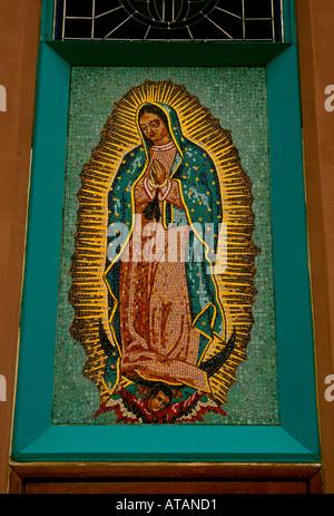 Our Lady of Guadalupe Parish, Albuquerque, Bernalillo County, New Mexico, United States - Stock Photo