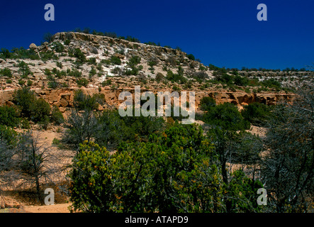 Tsankawi Prehistoric Sites, Bandelier National Monument, Sandoval County, New Mexico, United States, North America - Stock Photo