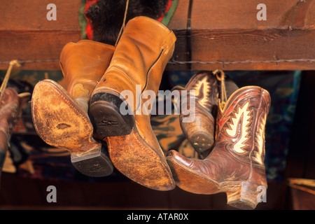 Country decor in the Running Iron Restaurant Carmel Valley Monterey County California - Stock Photo