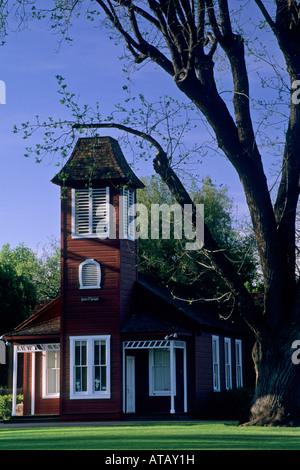 Old Ballard School house est 1882 Ballard Santa Barbara County California - Stock Photo