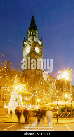 Christmas in Albert Square, Manchester. - Stock Photo