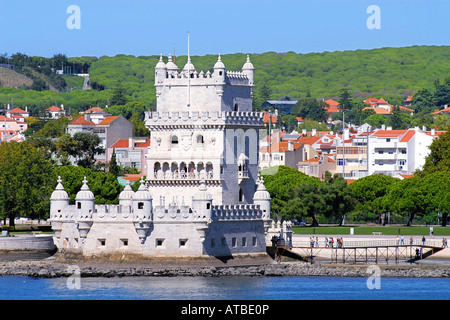 Belm Tower in Lisbon, Portugal - Stock Photo