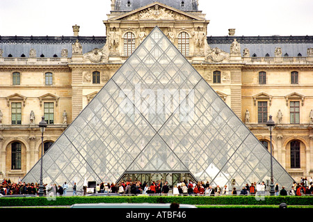 The Louvre museum in Paris France - Stock Photo