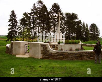 Hunters CWGC Cemetery in Newfoundland Memorial Park - Stock Photo