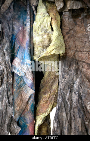 The blood stained clothes of genocide victims on display at Murambi Genocide Memorial in Gikongoro in Rwanda Central - Stock Photo