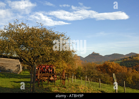 Trifels Castle in Palatinate Forest, Germany, Rhineland-Palatinate, Palatinate Forest - Stock Photo