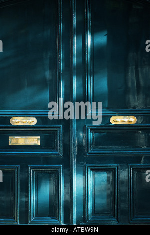 Doors and mail slot, full frame - Stock Photo