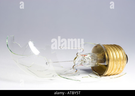 Broken light bulb, close-up - Stock Photo