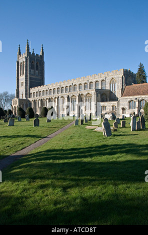 Holy Trinity Church, Long Melford, Suffolk, UK. A 'wool church' built in 1484 - Stock Photo