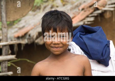 Indian Boy Portrait - Stock Photo