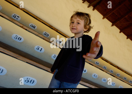 Little Girl Offering A Hand - Stock Photo