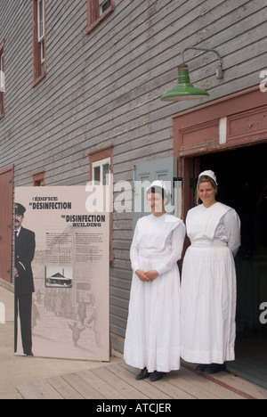 Docent/interpreter 'nurses' at Gross Ile and the Irish Memorial National Historic Site of Canada - Stock Photo