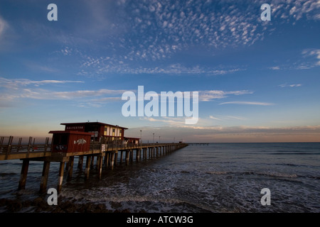 Surf and sky in galveston texas stock photo royalty free for Galveston fishing pier
