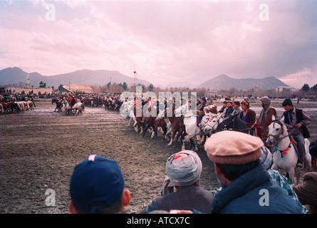 Opening Ceremony, Buzkashi tournament, Kabul, Afghanistan. - Stock Photo