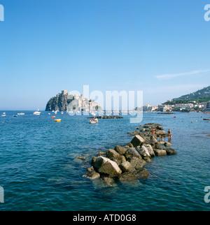 Castello Aragonese, Ischia Ponte, Ischia, Italy - Stock Photo