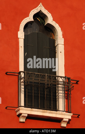 ROMEO & JULIET WINDOW VENICE VENEZIA ITALY - Stock Photo