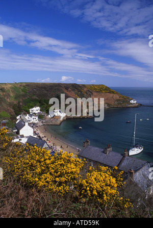 Porth Dinllaen in springtime Near Morfa Nefyn Llŷn Peninsula North Wales - Stock Photo