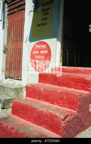 Steps to Snack Bar at St George s in Grenada - Stock Photo