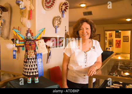 juried art work in the Main Hall Gallup Inter Tribal Indian Ceremonial Gallup New Mexico - Stock Photo