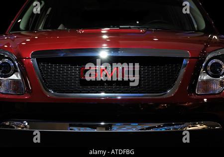 General Motors car emblem on GMC Envoy - Stock Photo