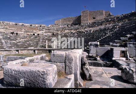 Greek Miletus Roman Theatre Turkey Turkish archaeology Greek - Stock Photo