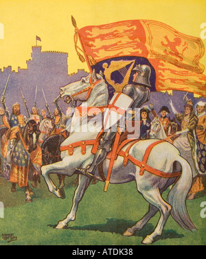 St George with Royal Standard - Stock Photo