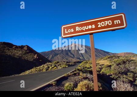 Los Roques de Garcia, Parque Nacional del Teide, Tenerife, Canary Islands, Spain - Stock Photo