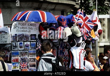 Tourist Market Stall in London - Stock Photo