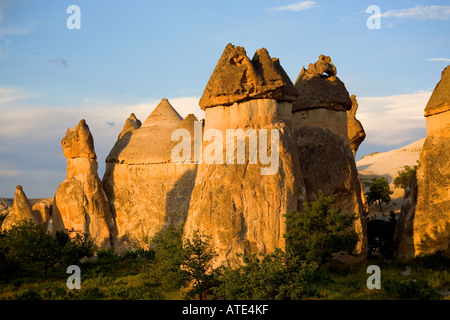 Sunset in Cappadocia, Turkey - Stock Photo