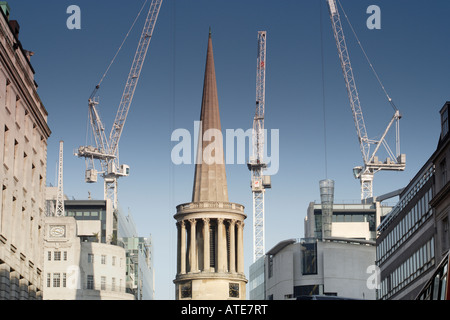All Souls Church Langham Place London and BBC buildings - Stock Photo