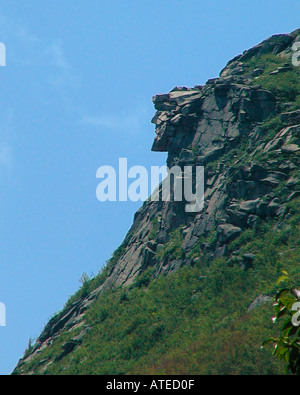 Old Man of the Mountains, New Hampshire - Stock Photo