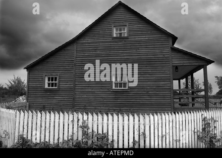 Farmstead, Ulster American Folk Park, Omagh, County Tyrone, Northern Ireland - Stock Photo
