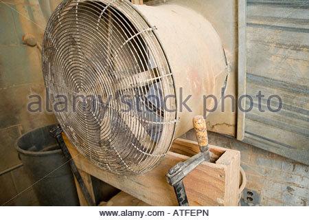 Large dusty fan - Stock Photo