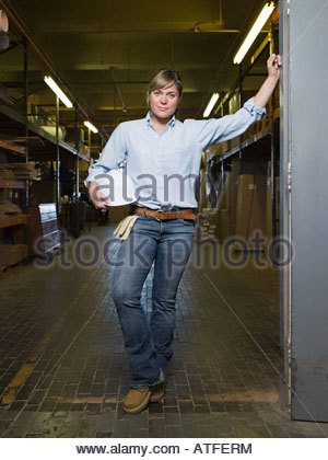 Female manual worker - Stock Photo