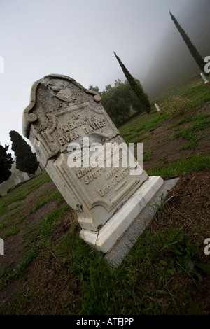 Old Rose Hill Cemetery in Somersville, California on Thursday, Jan. 10, 2008. (Photo by Kevin Bartram) - Stock Photo