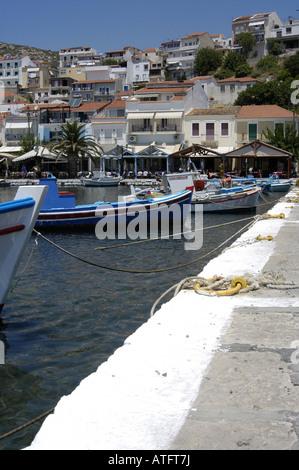 Port of Pythagorion, samos island greece. - Stock Photo