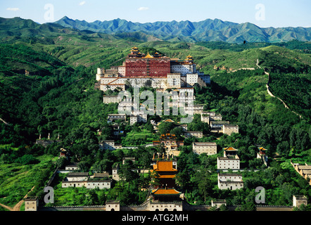 Chengde's Temple of Potaraka Doctrine Lesser Potala Palace one of the Eight Outer Temples - Stock Photo