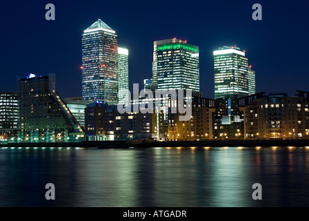Canary wharf and isle of dogs - Stock Photo
