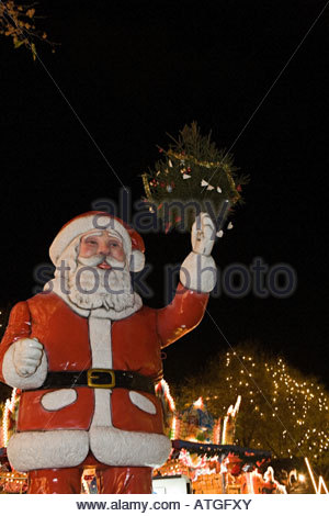 A statue of father christmas - Stock Photo
