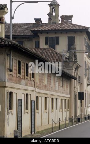 Villa Castiglioni along the Naviglio river, Milan - Stock Photo