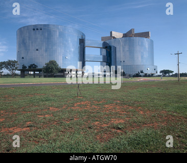 Solicitor General's Office, Brasilia, 2002. Architect: Oscar Niemeyer - Stock Photo