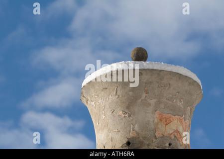 Chimney of the Rennaissance Castle Goldrain, Italy - Stock Photo