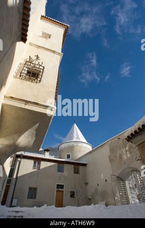 Inside Rennaissance Castle Goldrain, Italy - Stock Photo