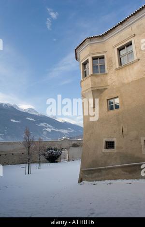 Rennaissance castle of Schloss Goldrain, Italy - Stock Photo