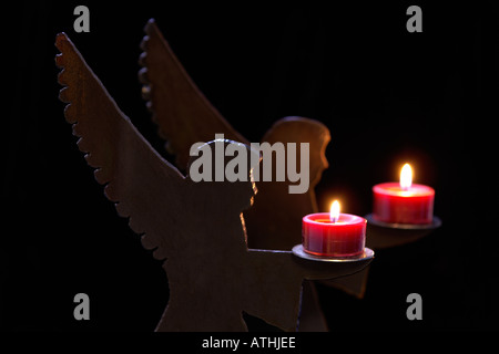 angel candle holders - Stock Photo