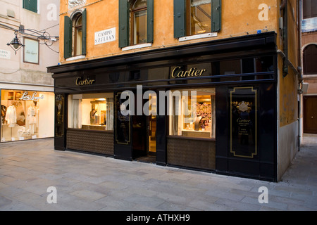 Cartier shop in Venice Italy - Stock Photo