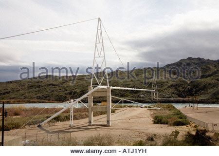 Pipeline bridge over Colorado River Topock Arizona - Stock Photo