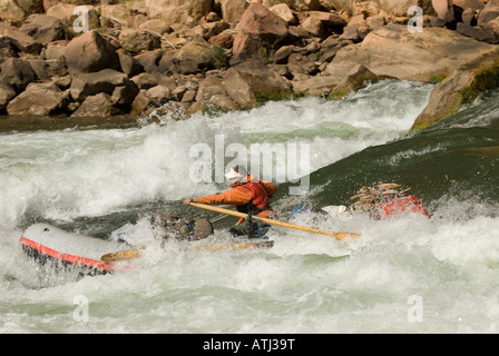 Running the Roaring Twenties while rafting the Colorado River in the Grand Canyon National Park Arizona - Stock Photo