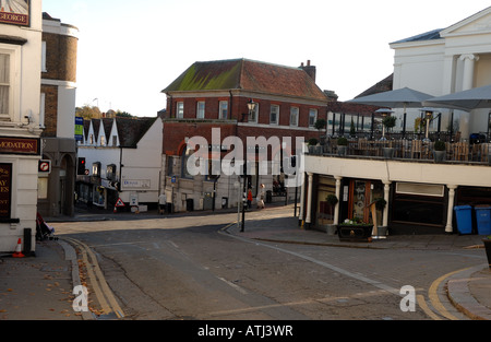 The main crossroads in Bishops Stortford, hertfordshire - Stock Photo